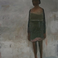 Standing Woman with bare feet