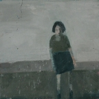 Standing Woman with black hair