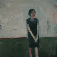 Standing Woman with hands clasped