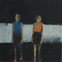 Two small figures