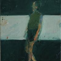 Small figure walking