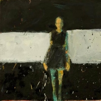 Standing Woman with Black Dress