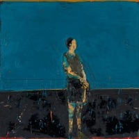 Standing figure(blue background)
