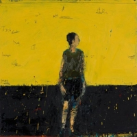 Standing figure(yellow background)