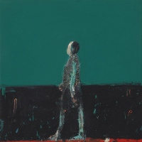 Figure Walking (Blue Green)