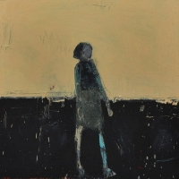 Standing Woman (Yellow Background)