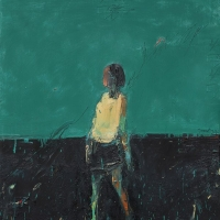 Woman Standing (Blue Green)