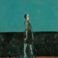 Figure Walking (Blue Green)